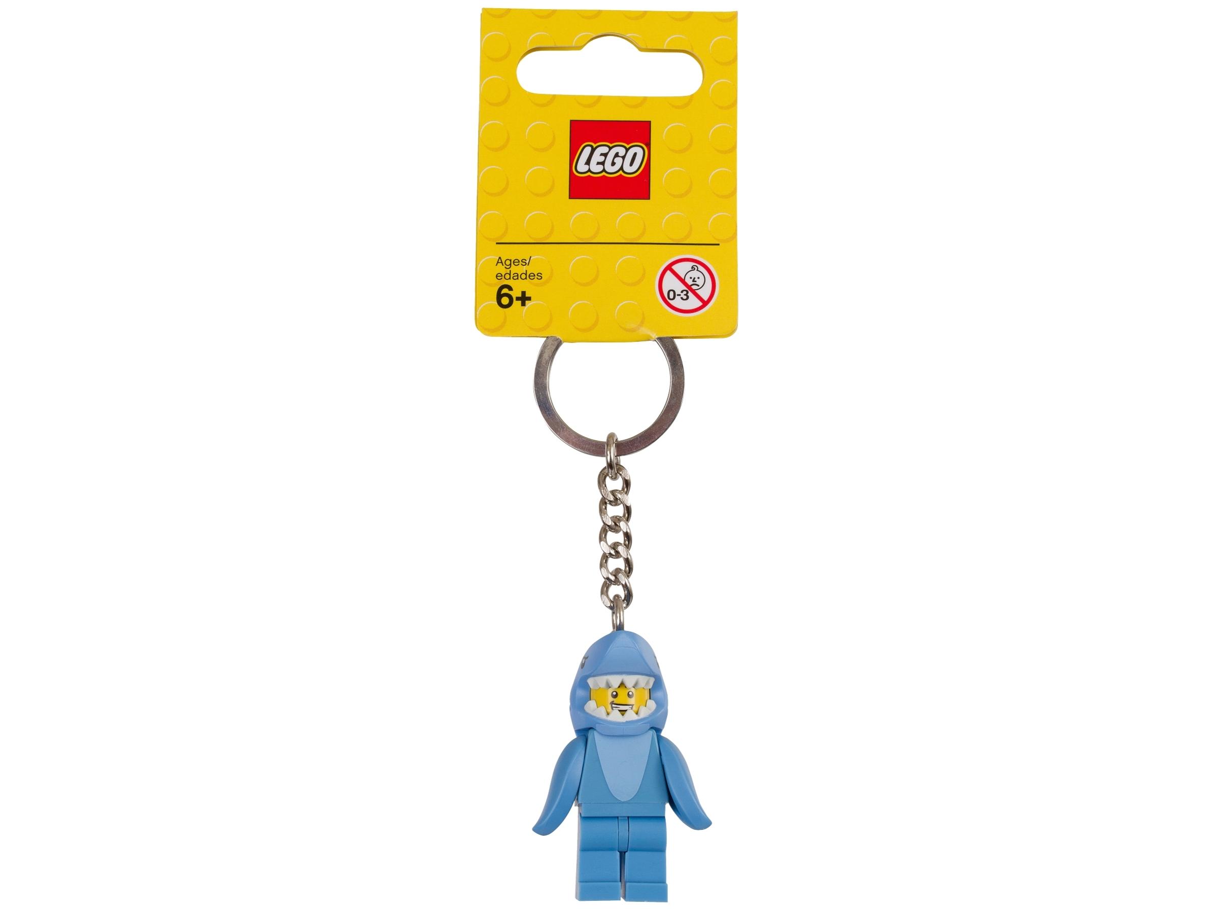 breloczek do kluczy lego 853666 z czlowiekiem w stroju rekina