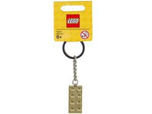 brelok do kluczy ze zlotym klockiem lego 850808 2x4
