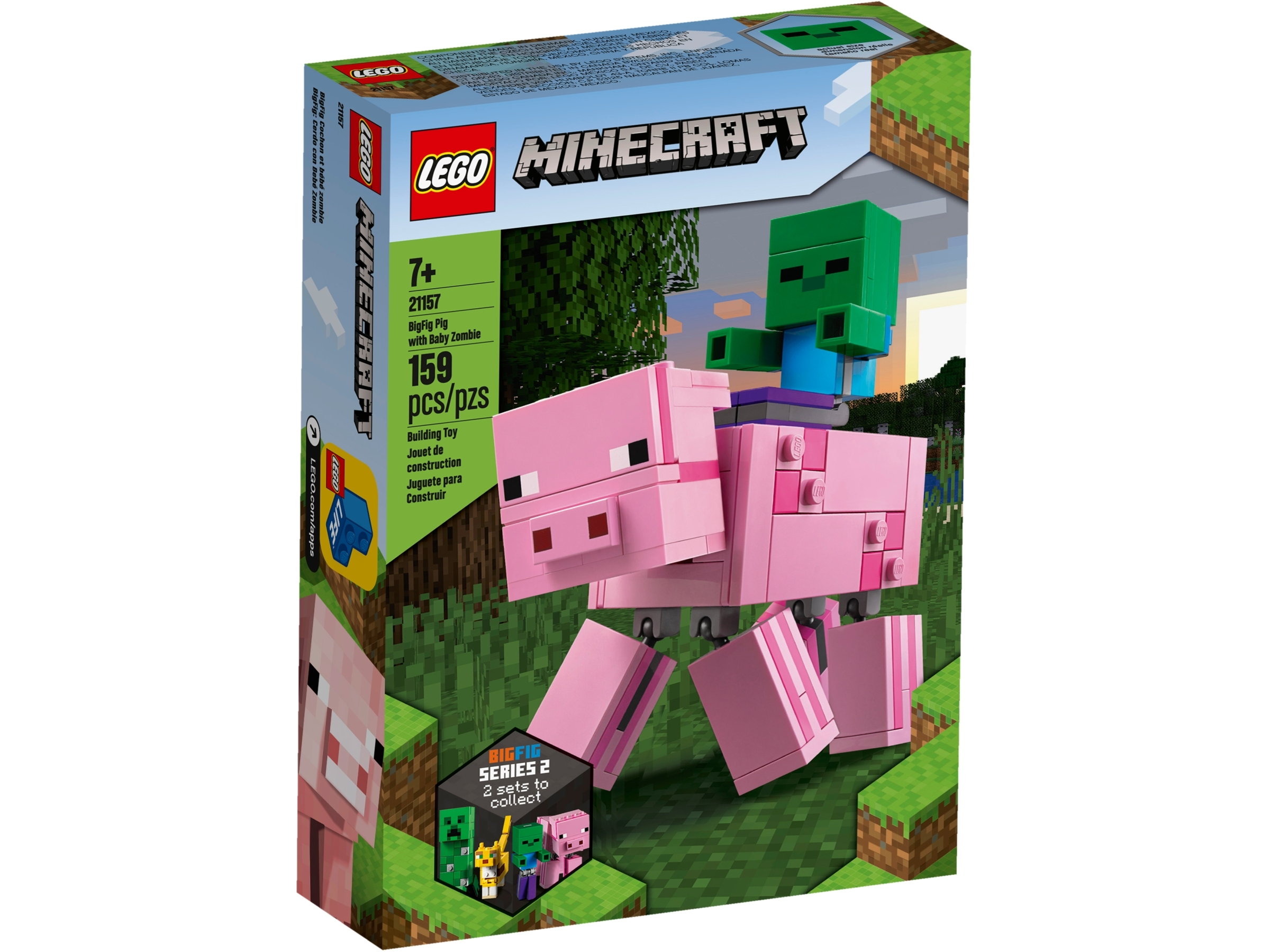 lego 21157 minecraft bigfig swinka i maly zombie