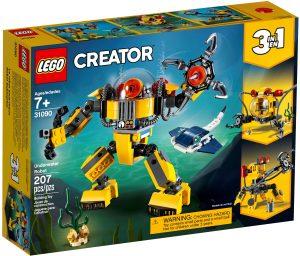 lego 31090 podwodny robot
