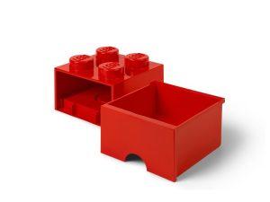 lego 5006129 pudelko z szuflada w ksztalcie czerwonego klocka z 4 wypustkami