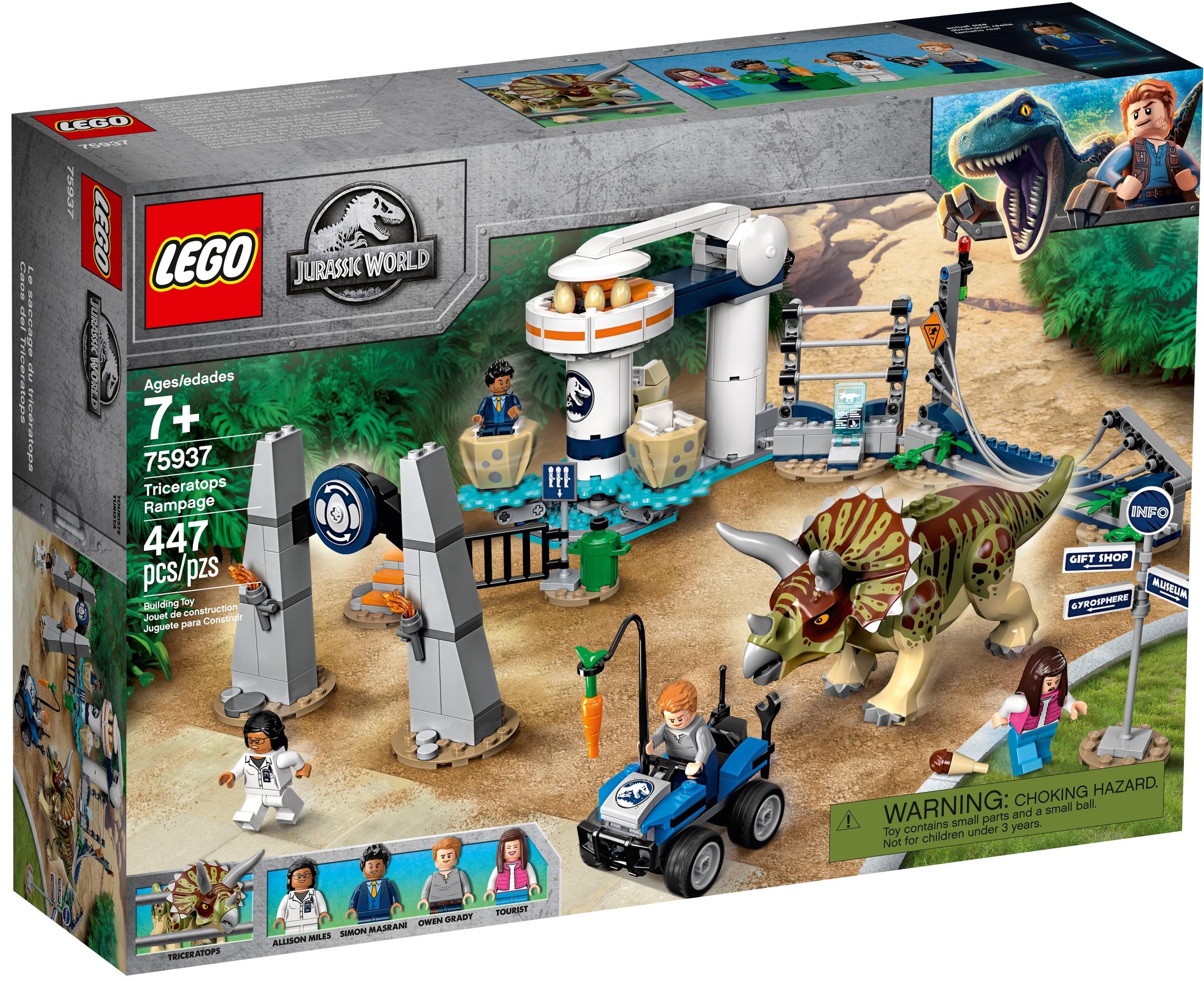 lego 75937 atak triceratopsa
