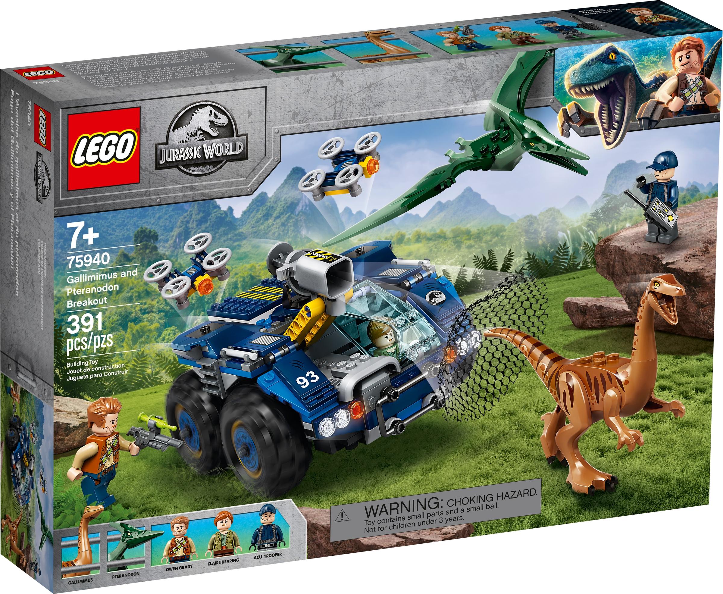 lego 75940 gallimim i pteranodon ucieczka