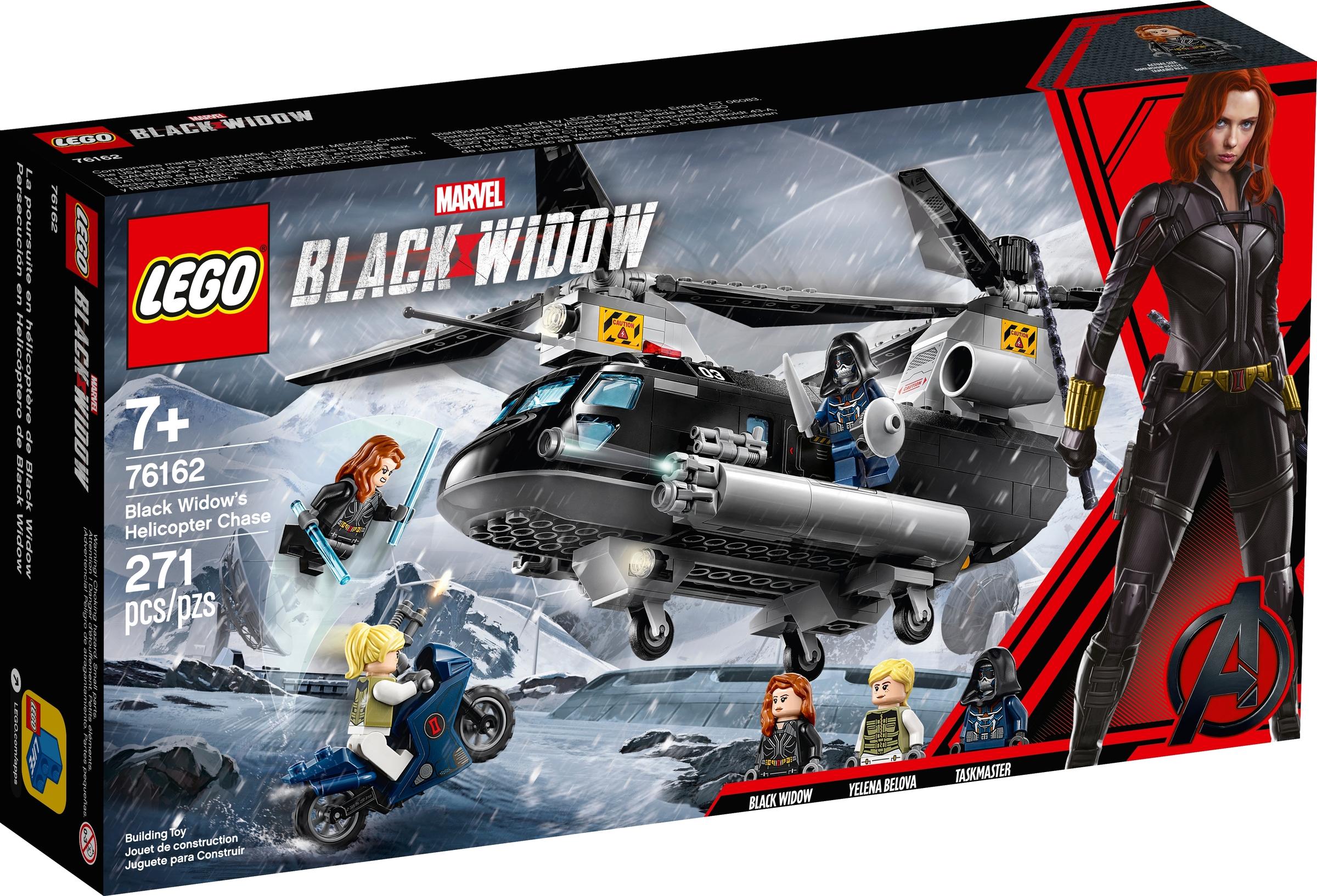 lego 76162 czarna wdowa i poscig helikopterem