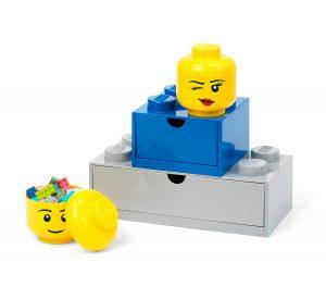 miniaturowy pojemnik w ksztalcie glowy mrugajacej minifigurki lego 5006211