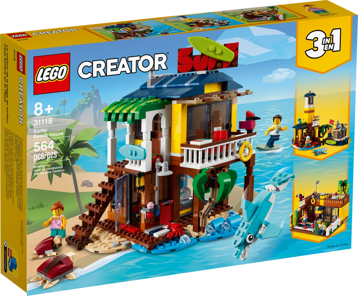 lego 31118 domek surferow na plazy