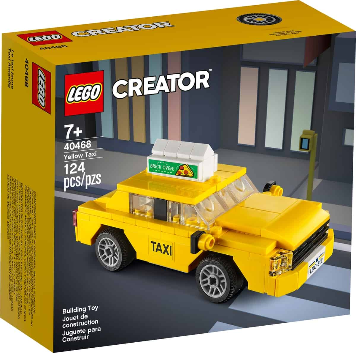 lego 40468 zolta taksowka