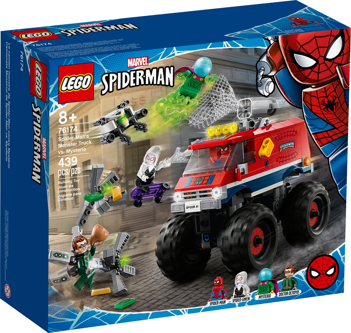 lego 76174 monster truck spider mana kontra mysterio