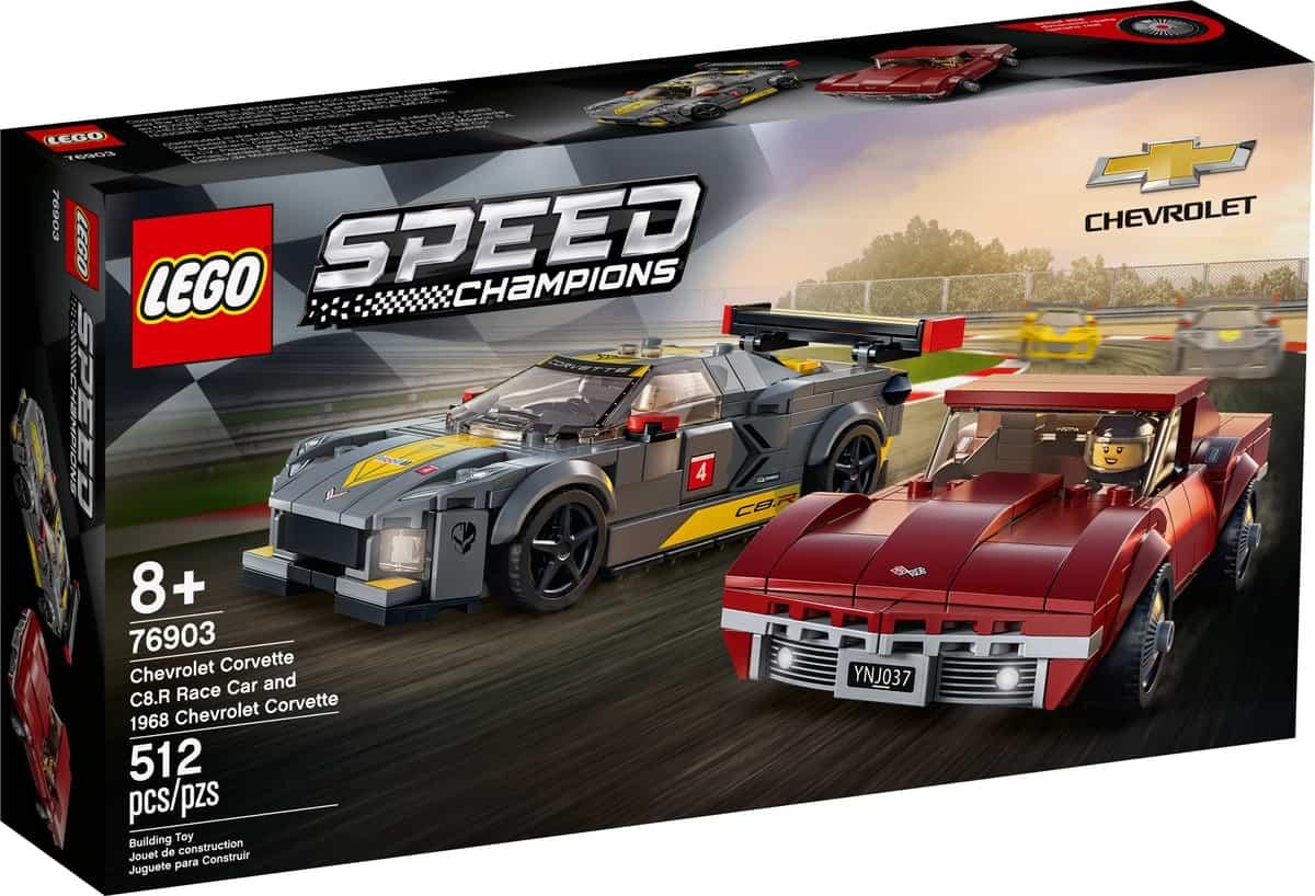 lego 76903 samochod wyscigowy chevrolet corvette c8 r i 1968 chevrolet corvette