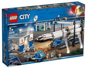 lego 60229 transport i montaz rakiety