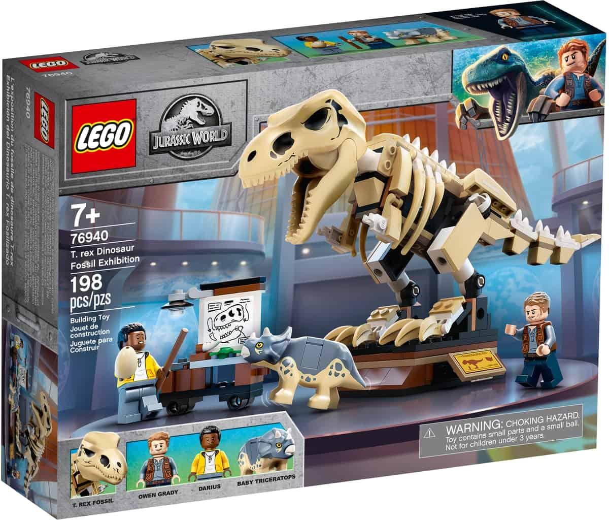 lego 76940 wystawa skamienialosci tyranozaura