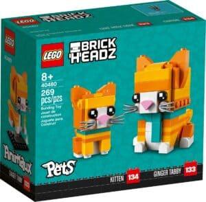 lego 40480 pregowany rudy kot