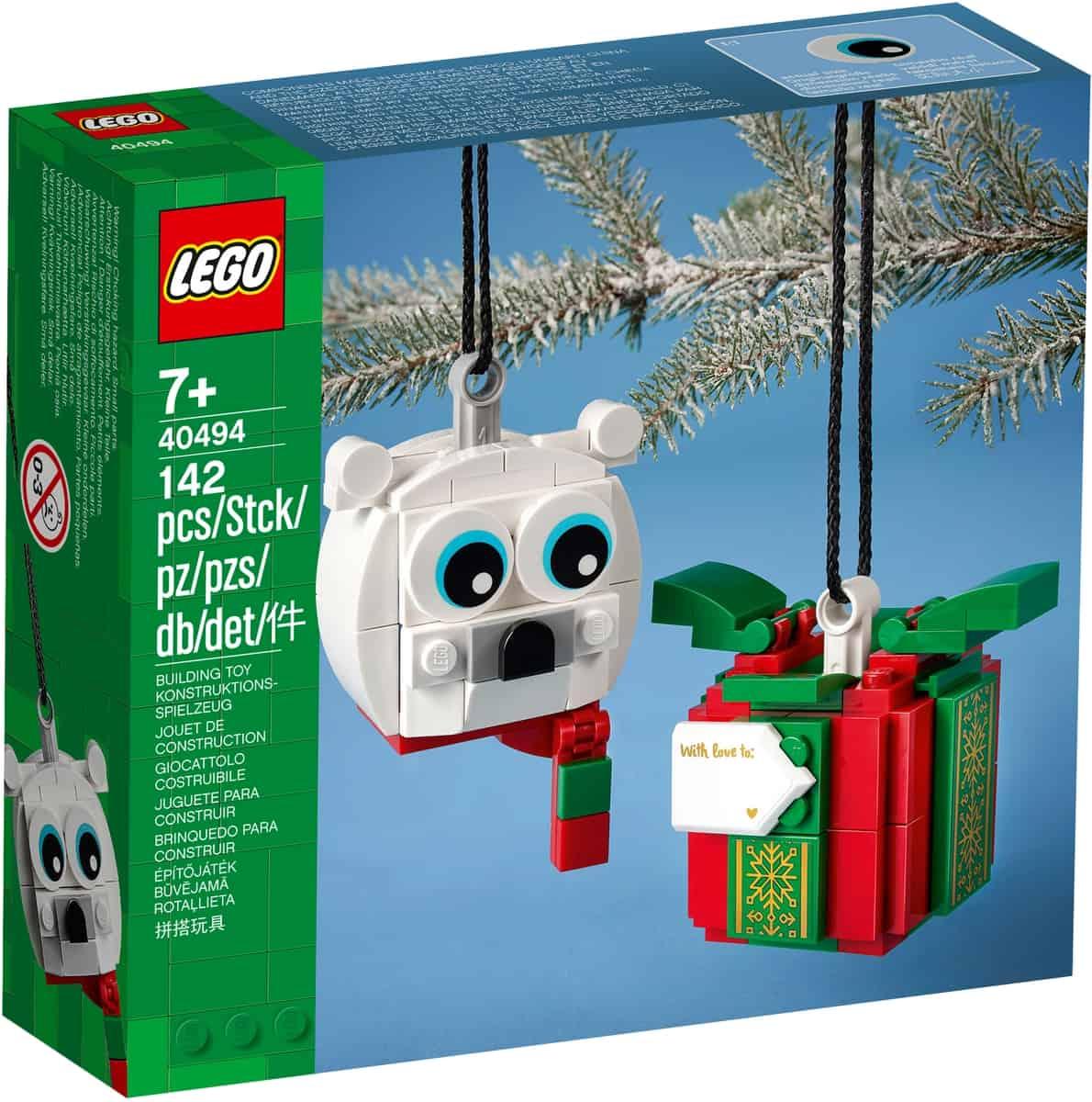 lego 40494 niedzwiedz polarny i pudelko z prezentem