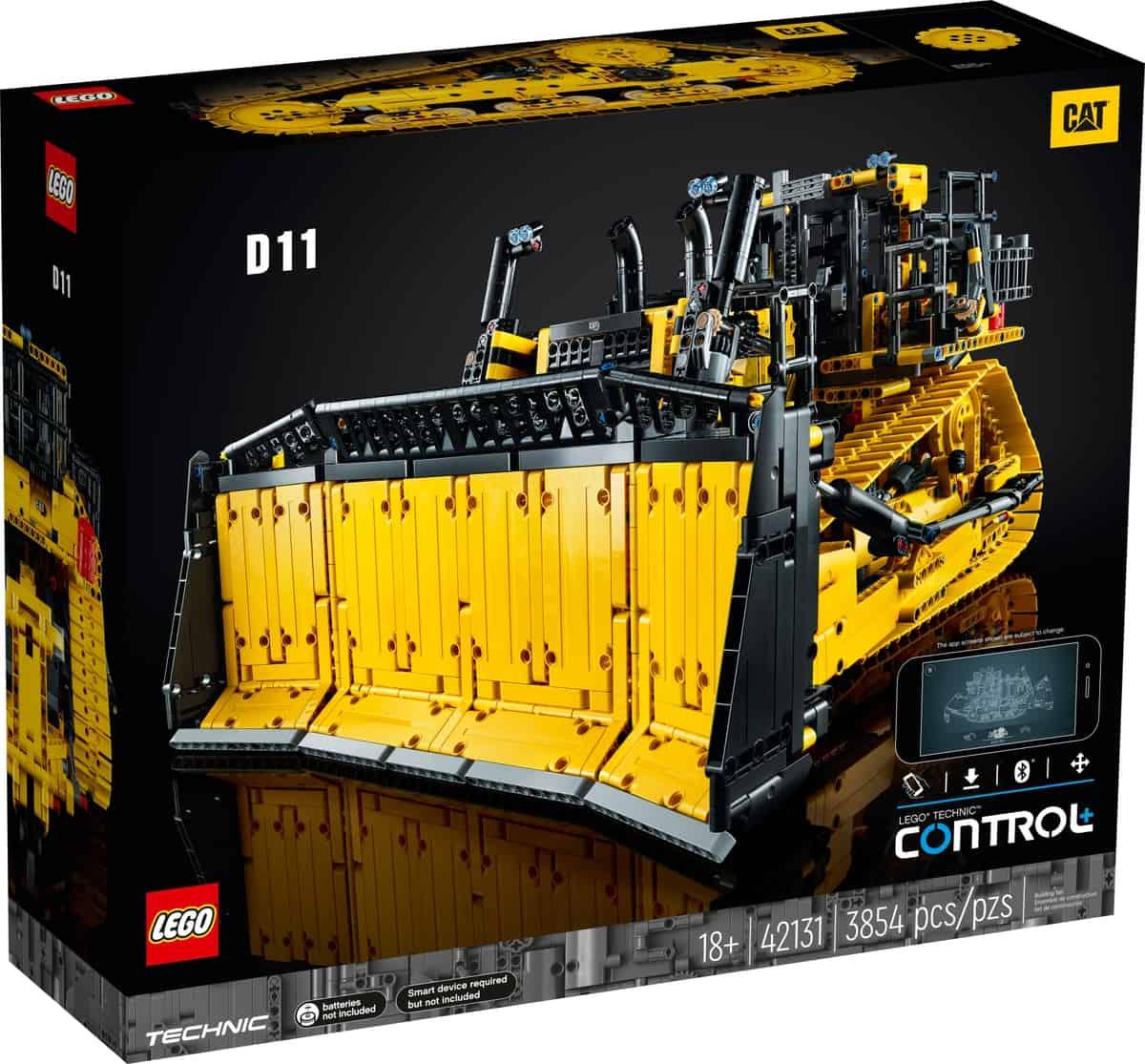 lego 42131 sterowany przez aplikacje buldozer cat d11