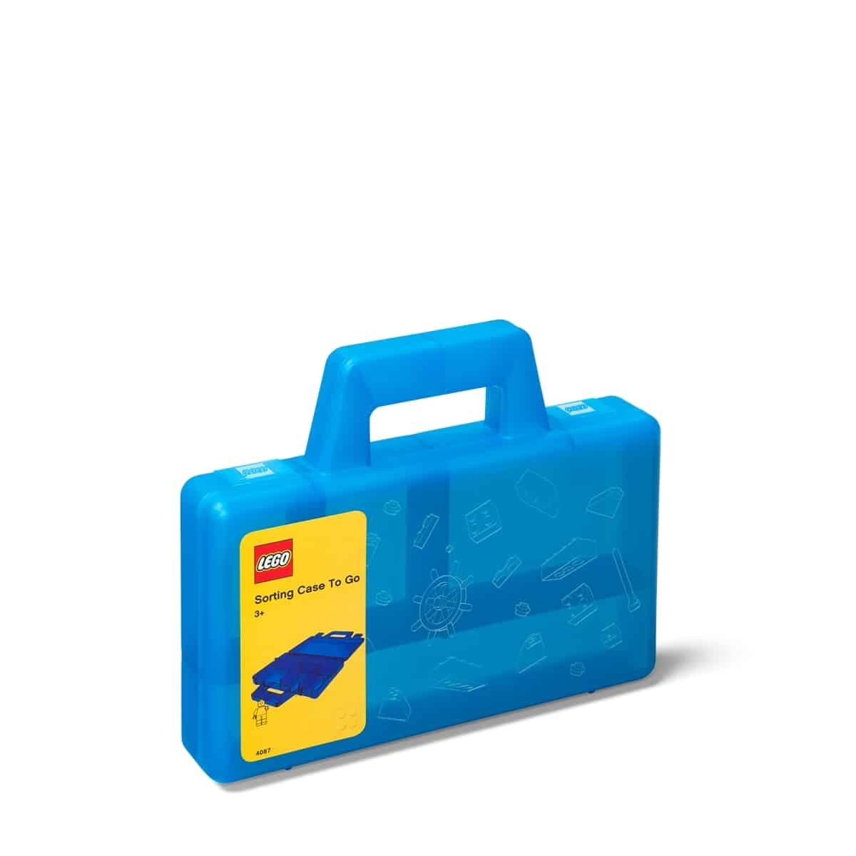 lego 5005890 przezroczysta niebieska przenosna walizka do sortowania
