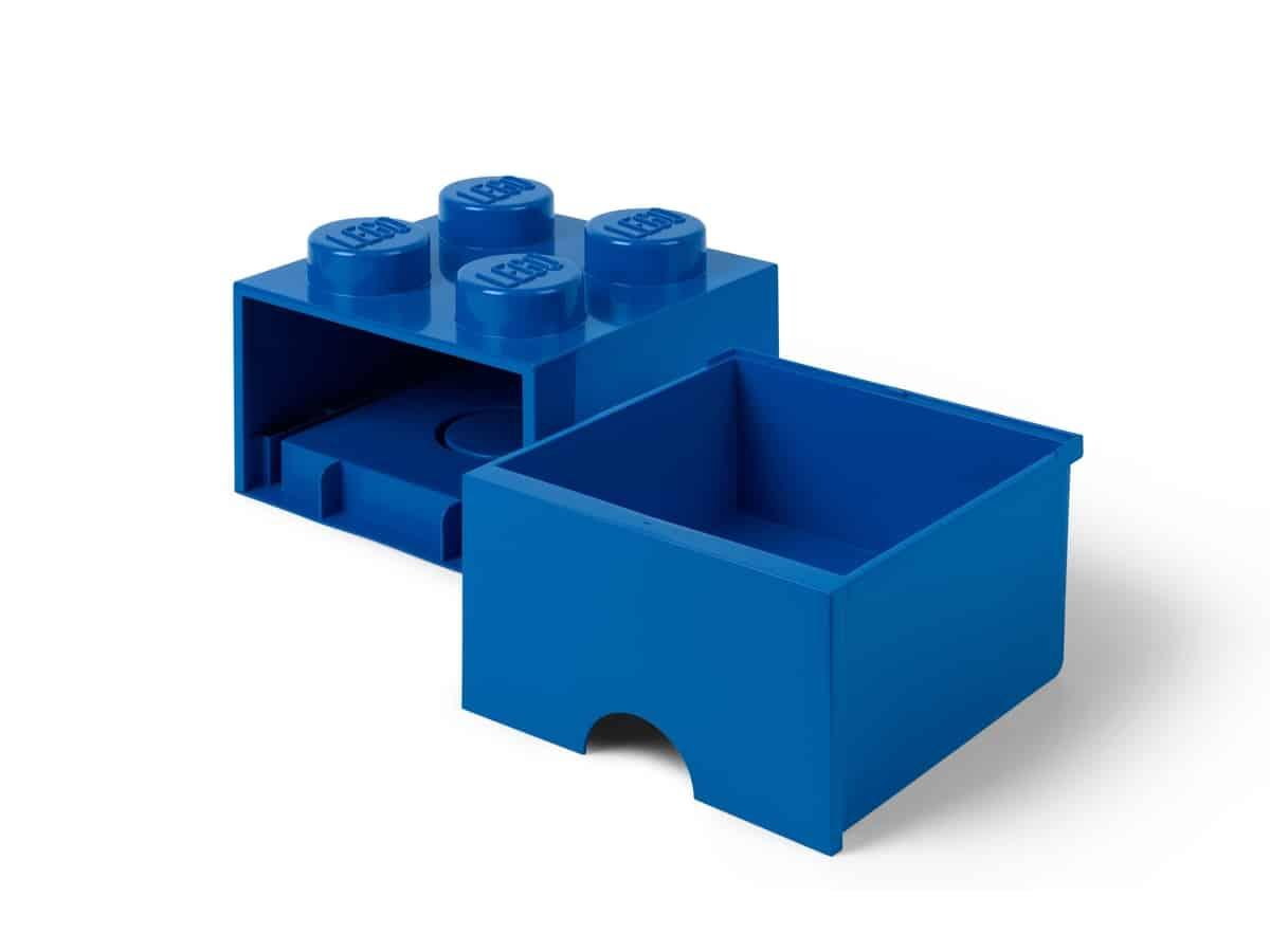 lego 5006130 pudelko z szuflada w ksztalcie niebieskiego klocka z 4 wypustkami