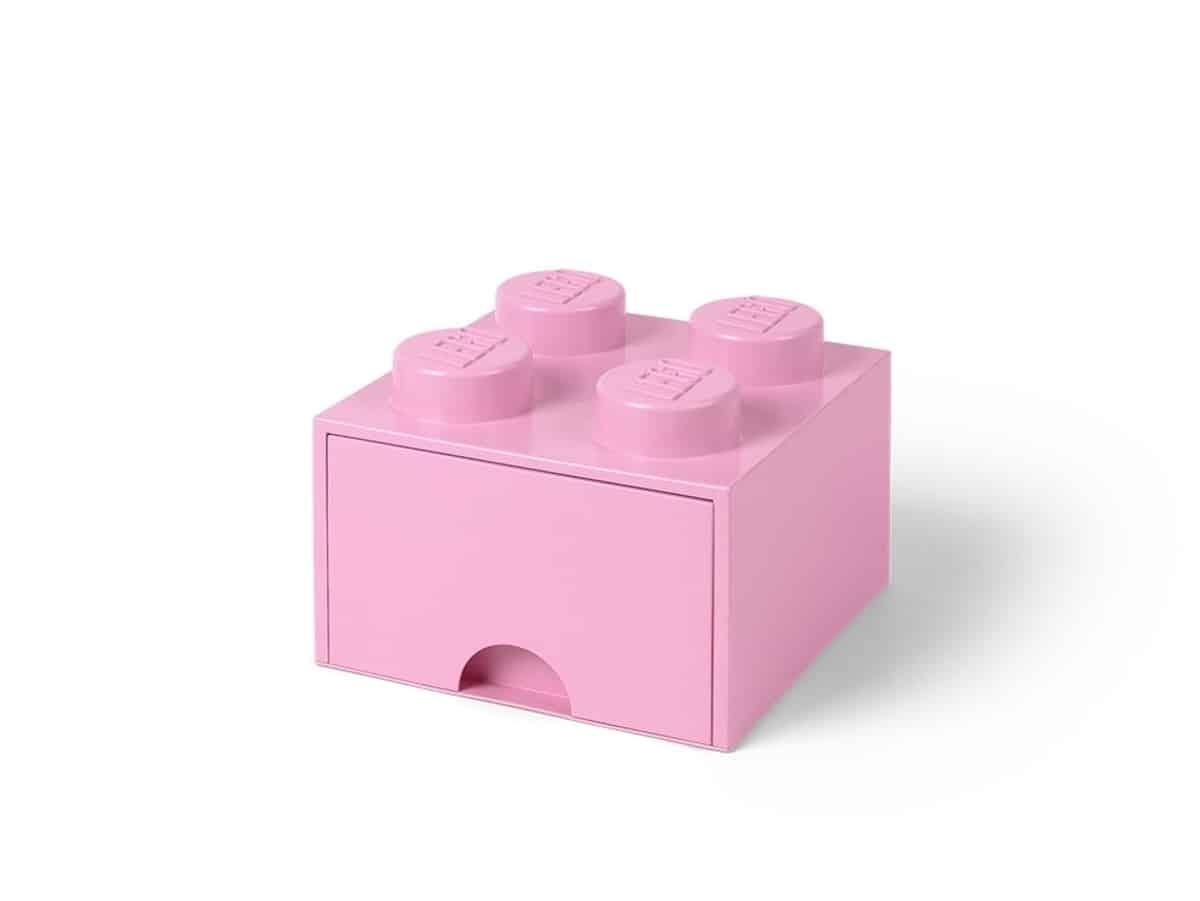 lego 5006173 jasnofioletowe pudelko z szuflada i 4 wypustkami