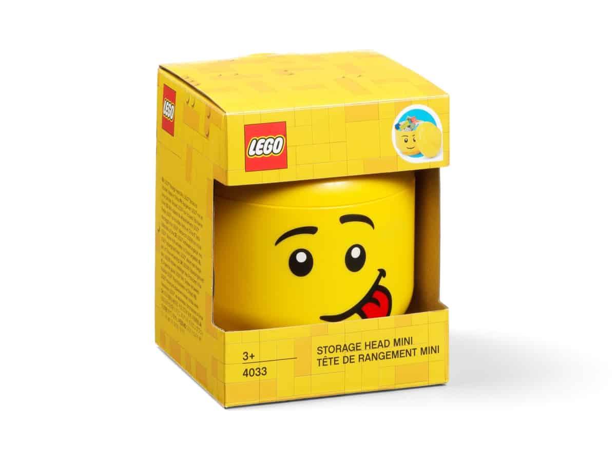 miniaturowy pojemnik w ksztalcie glowy smiesznej minifigurki lego 5006210